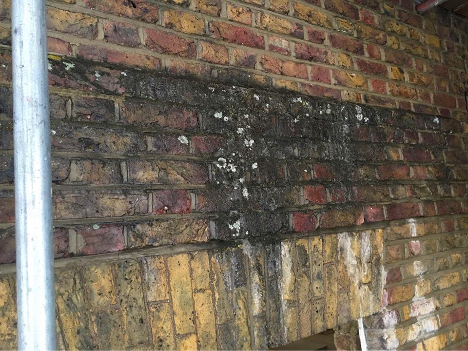 Brick Surface Cleaning London BEFORE